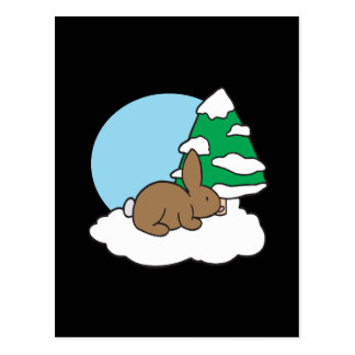 Snow Bunny Postcard