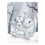 """Snow Bunny"" Postcard"