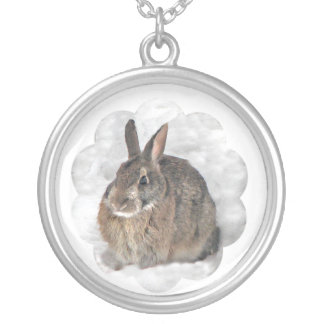 Snow Bunny Silver Plated Necklace