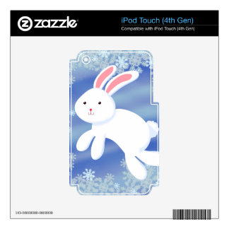 Snow Bunny Skin For iPod Touch 4G