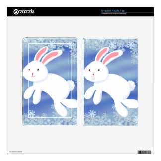 Snow Bunny Skins For Kindle Fire