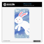 Snow Bunny Skins For The iPhone 4S