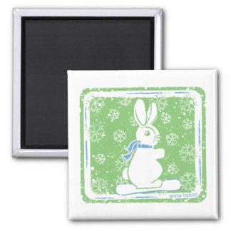 Snow Bunny Snow Boarding Magnet