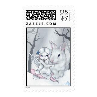 """Snow Bunny"" Stamp"