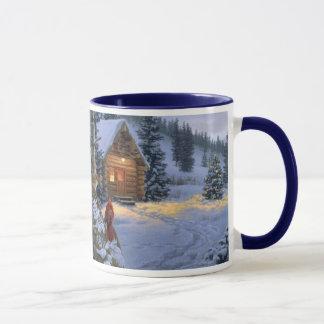 snow_cabin_Christmas_mug Mug