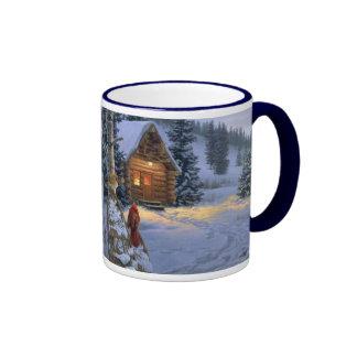 snow_cabin_Christmas_mug Ringer Mug
