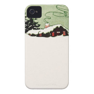 Snow Cabin Country Life Winter Wonderland iPhone 4 Case-Mate Case