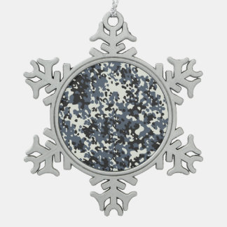 Snow Camouflage Christmas Snowflake Ornament Decor Ornament