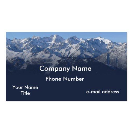 Snow cap mountains business cards