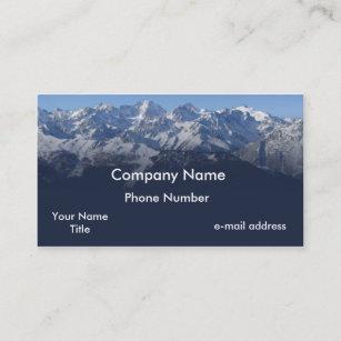 Peak business cards zazzle snow cap mountains photograph business card colourmoves
