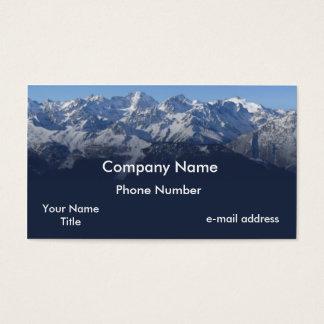 Snow cap mountains photograph business card