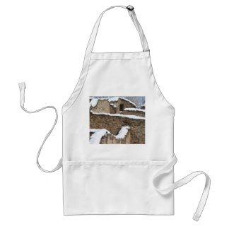 snow capped aztec wall structure adult apron