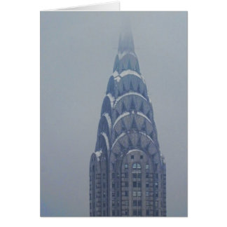 Snow Capped Chrysler Building after a storm Card