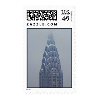 Snow Capped Chrysler Building after a storm Stamp