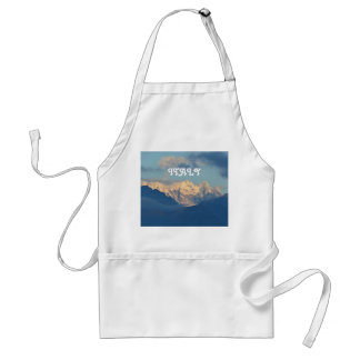 Snow Capped Dolomites Adult Apron