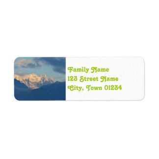 Snow Capped Dolomites Label