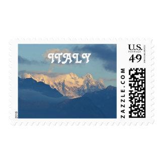 Snow Capped Dolomites Postage Stamp