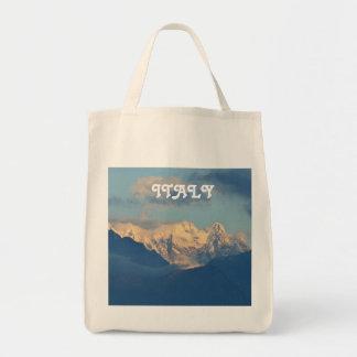 Snow Capped Dolomites Tote Bag