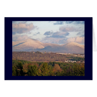 Snow capped Green Mountains of Vermont Card