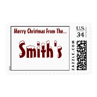 Snow Capped Hammett - Red - Matching Postage Stamp