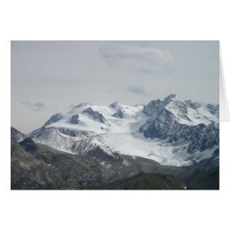 Snow Capped Mont Blanc Greeting Card