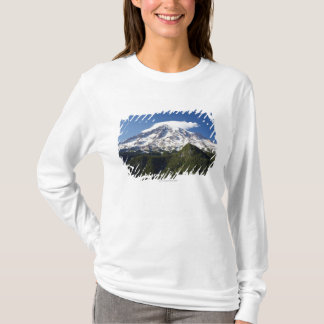 Snow Capped Mountain with Blue Sky & Forest T-Shirt