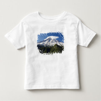 Snow Capped Mountain with Blue Sky & Forest Toddler T-shirt