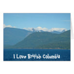 Snow Capped Mountains & Sea Greeting Card