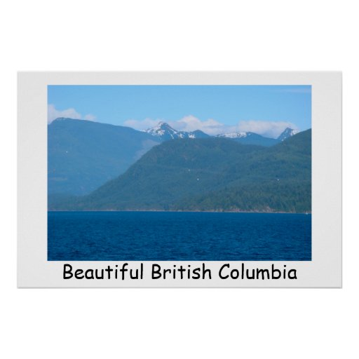 Snow Capped Mountains & Sea Posters