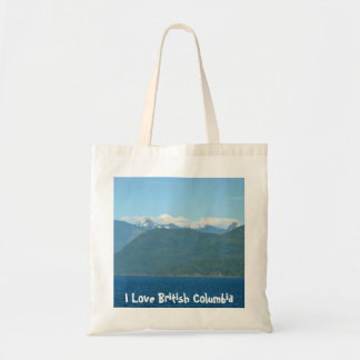 Snow Capped Mountains & Sea Tote Bag