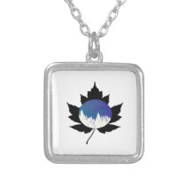 Snow Capped Range Silver Plated Necklace