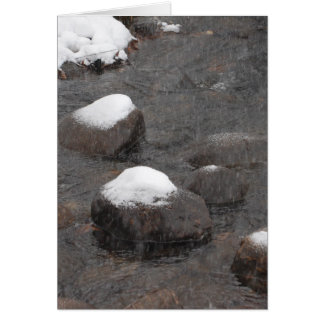 Snow Capped Rocks Greeting Card