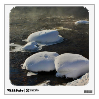 Snow Capped Rocks - Pushaw Stream Wall Decal