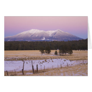 Snow Capped San Francisco Peaks at Sunset Greeting Card