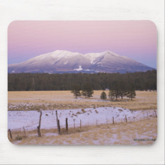Snow Capped San Francisco Peaks at Sunset Mouse Pad