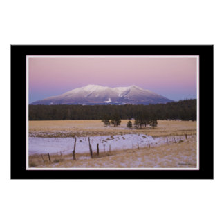 Snow Capped San Francisco Peaks at Sunset Posters