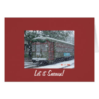snow_car_of_desire, Let it Sneaux! Greeting Card