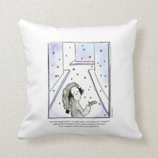 SNOW cartoon by Ellen Elliott Throw Pillow