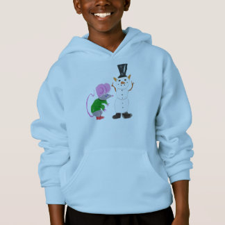 Snow Cat By Dudley Mouse Hoodie