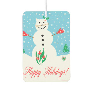 """Snow Cat"" Holiday Air Freshener"
