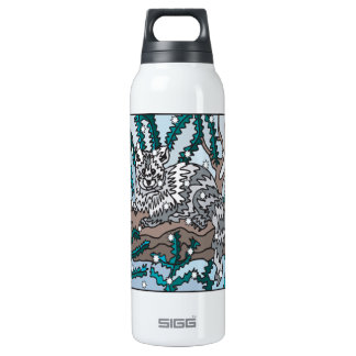 Snow Cat Insulated Water Bottle