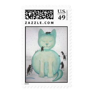 Snow Cat Postage