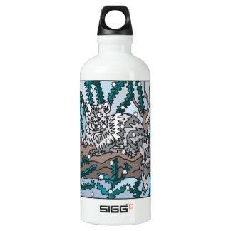 Snow Cat Water Bottle