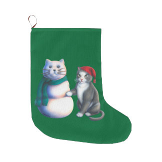 Snow Cats Stocking