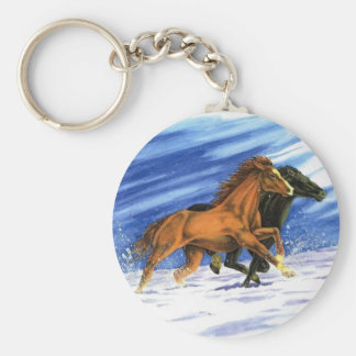 Snow Charge Basic Round Button Keychain