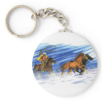 Snow Chase Keychain