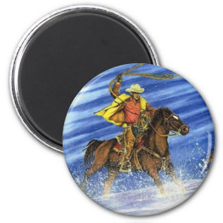 Snow Chase 2 Inch Round Magnet