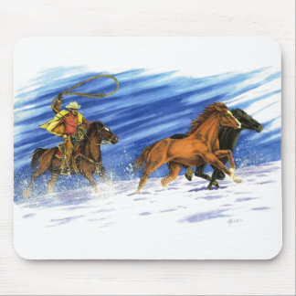 Snow Chase Mouse Pad