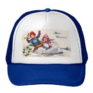 Snow Children Christmas Hat