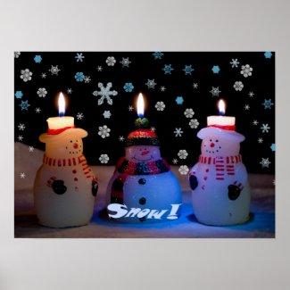 Snow! Christmas Poster print